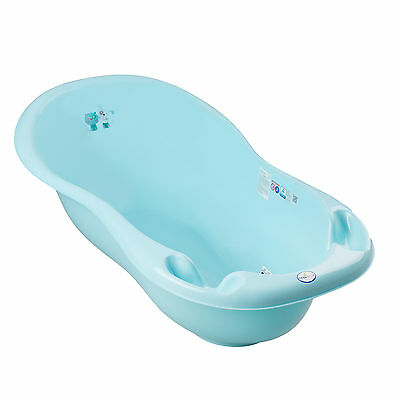 Small Bath With Drain For New Born Baby Cat And Dog Animals Blue +Thermometer