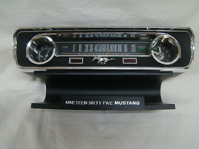LIMITED EDITION 1965 Ford Mustang Commemorative Desk Clock w Sounds~Thermometer