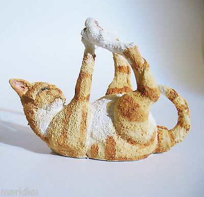 Orange Mini Tabby cat Figurine Tinkerbelle CA04842 Country Artists A Breed Apart