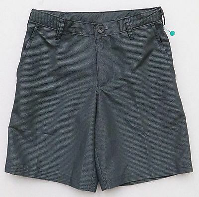 C9 by CHAMPION BOY'S GRAY STRIPED SHORTS QUICK DRY HYBRID GOLF