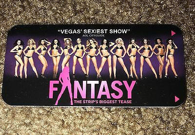 "Luxor ""fantasy"" Hotel Room Key Card Las Vegas Casino Show Girls New"