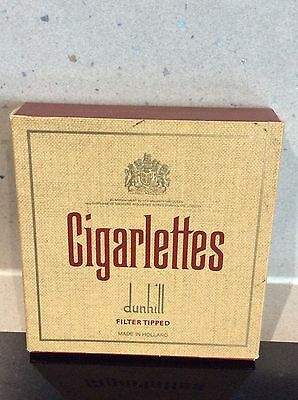 Vintage Cigarlettes Dunhill Filter Tipped - Empty 20 Cigarette Packet
