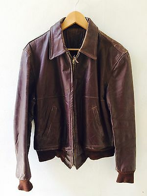 Horsehide Leather Jacket 1950s Talon Zip Bomber