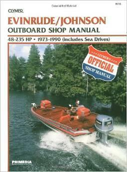 EVINRUDE JOHNSON OUTBOARD MOTOR 48 50 55 60 65 70 75 85 HP Owners Repair Manual