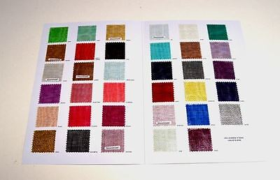 swatches  Sinamay - For fascinators, hats & craft use