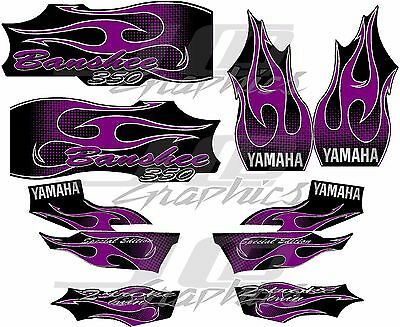 yamaha banshee full graphics kit 2006 purple