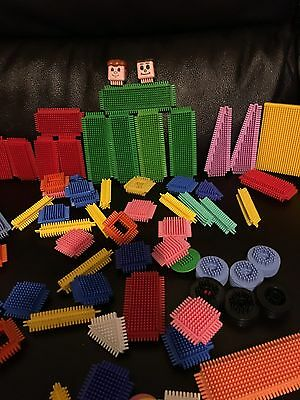 Job lot Of Stickle Bricks Bristle Bricks Construction Set 68 Items Wheels People