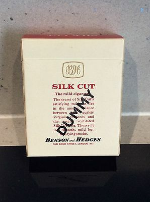 Vintage Silk Cut Dummy Cigarette Packet - VERY RARE DISPLAY SEALED PACK