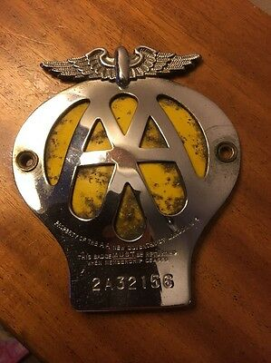 Classic Car AA Badge Historic Vehicle