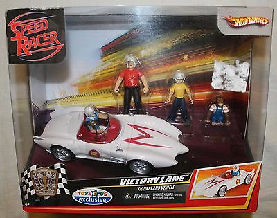 Hot Wheels Speed Racer Victory Lane Playset w/ Figures & Vehicle TOYS R US EXCL.