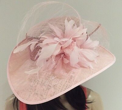 Nigel Rayment Couture Baby Pink Occasion Wedding Hat Mother Of The Bride