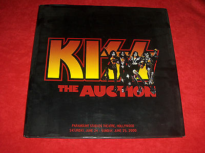 KISS - THE AUCTION Butterfields Book **Signed by the Band** USA Hardcover