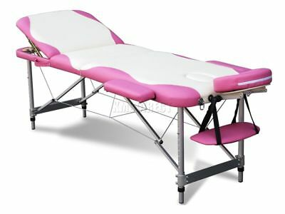 3 Section Lightweight Portable Folding Massage Table Luxury Beauty Couch Bed WP