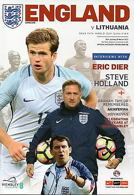 England v Lithuania 26th March 2017 World Cup Qualifier Programme @ Wembley