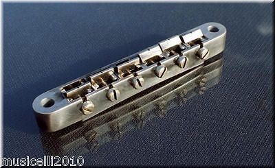Faber ABRM-59-NA, ABRM59NA Bridge, fits 4mm studs for Asian Guitars,Nickel aged