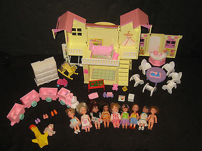 Barbies Little Sister Kelly Pop up Dollhouse Furniture Accessories Huge Toy Lot
