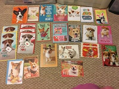 New! Large Lot Collection Of Pembroke Welsh Corgi Dog Hallmark Greeting Cards