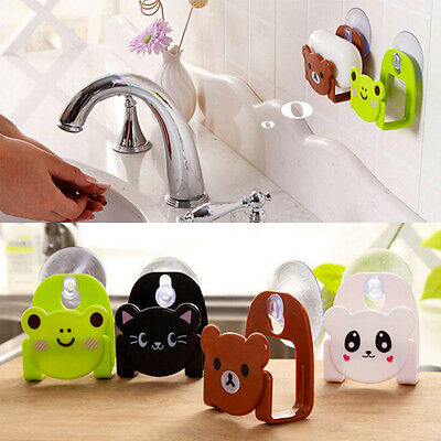 Cute Kitchen Suction Cup Sponge Holder Washing Sink Tub Cleaning Spong Dish Clot