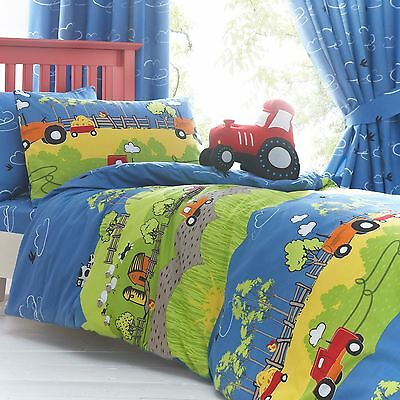 Hilltop Farm Tractor Double Duvet Cover & Pillowcase Set New Childrens Bedding