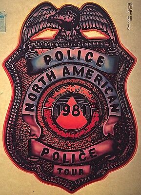 Vintage 1981 The Police Iron On Transfer North American Tour Super RARE!