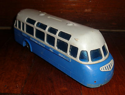 vintage TRAINWAY Uruguay Hard Plastic coin bank 1960 UNIQUE promo toy ULTRA RARE