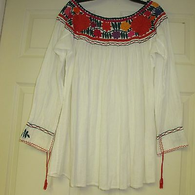 Embroidered Hand Made Mexican Top Gorgeous