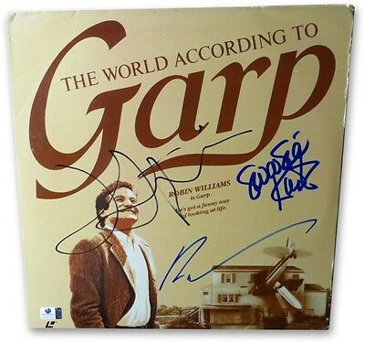 Robin Williams Lithgow Kurtz Signed Laserdisc Cover According to Garp GV761637