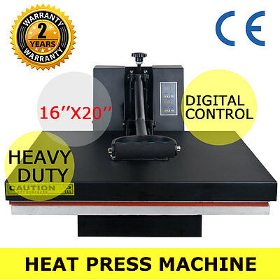"16"" X 20"" CLAMSHELL HEAT PRESS T-SHIRT Digital TRANSFER SUBLIMATION MACHINE New"