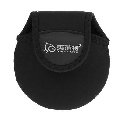 Spinning Wheel Reel Cover Baitcasting Fishing Reel Bag Protective Case Black