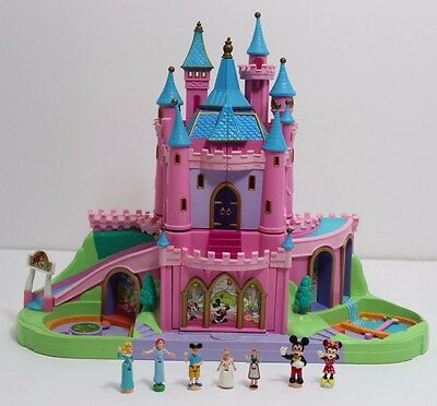Miniature Disney Castle w/ Figures ~ Mickey, Minnie, Cinderella, etc.