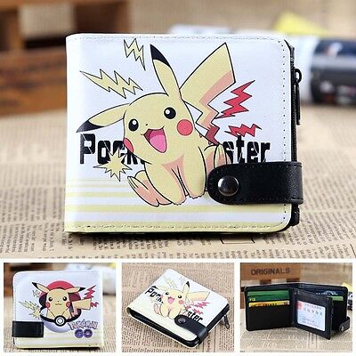 UK Pokemon Pikachu Elf ball leather Wallet Cosplay wallet purse Coin purse WXF