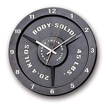 Body-Solid Training Time Clock - Olympic Weight Plate Replica Gym Clock