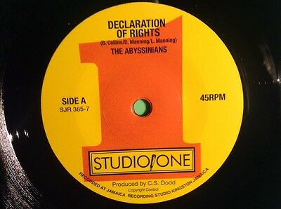 Soul Jazz Declaration Of Rights / Version The Abyssinians
