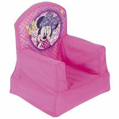 Disney Minnie Mouse Cosy Chair Kids Inflatable Pink New Girls Bedroom Free P+P