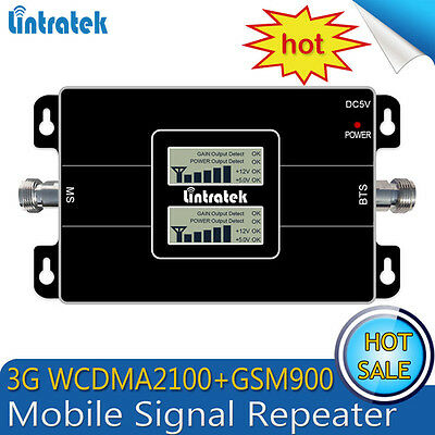 Dual Band GSM/WCDMA 900/2100mhz Cell Phone Signal Booster 3G Repeater Amplifier