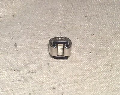 Cartier Vintage Mid 20th Century Sterling Silver & Enamel Modernist Ring Size 5