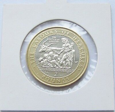 RARE! Gibraltar 2 Pounds 2000 Labours of Hercules - The Cattle of Geryon
