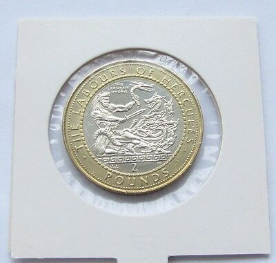 RARE! Gibraltar 2 Pounds 1998 Labours of Hercules - The Lernean Hydra