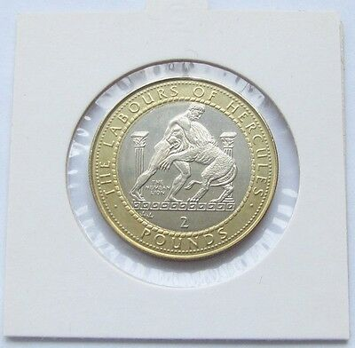 RARE! Gibraltar 2 Pounds 1997 Labours of Hercules - The Nemean Lion