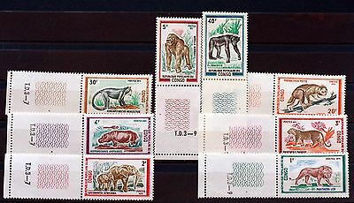 8 TIMBRES CONGO  ANIMAUX SAUVAGES   NEUF ** Scott 268/75  MNH 88M525