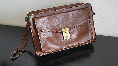 Vintage Leder Herrentasche Gelenktasche The Bridge