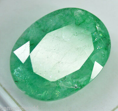 22.00 Ct Translucent EGL Certified Green Emerald  Gemstone~{Awesome Deal}CD1854