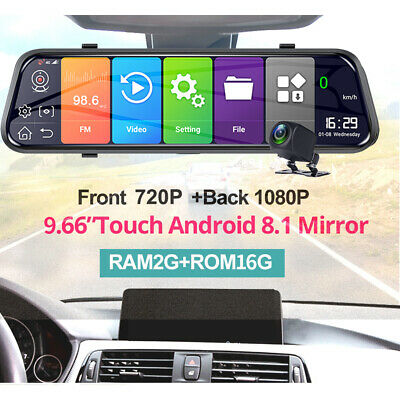 8'' 4G 1080P Car DVR camera GPS Android 5.1 Car RearView Mirror Camera Dash Cam