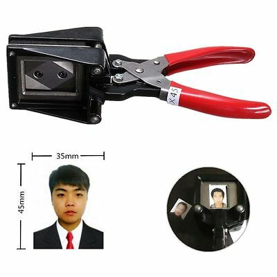 Portable Handheld Passport ID License Picture Photo Punch Cutter Cutting Tool