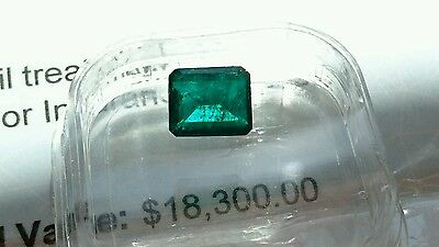 2.15 ct Dark Green Natural CERTIFIED Colombian Emerald 9.10x7.90x3.83mm  SWAP PX