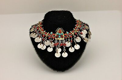 Antique Original Perfect Coral Silver Amazing Traditional Ottoman Necklase