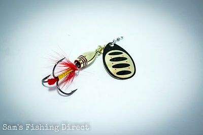 Savage Gear Rotex Spinner #3 or #4 Gold Pike Perch Chub Fishing
