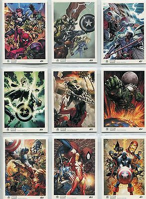 Marvel Universe 2011 Complete Artist Draft Chase Card Set AD1-9