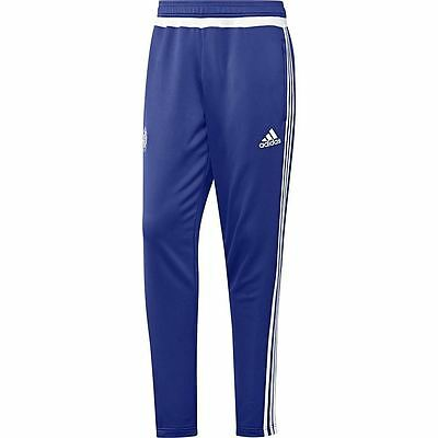 adidas CHELSEA FC TRACK PANTS BLUE TRAINING RUNNING FOOTBALL CHAMPIONS 3 STRIPES