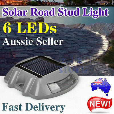 6X 6 LED Solar Powered Garden Road Driveway Pathway Security Lights Aluminum